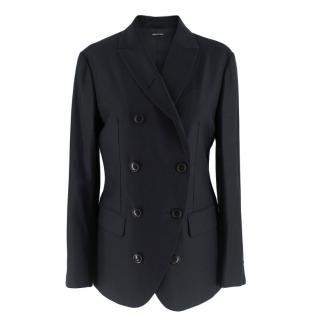 Giorgio Armani Black double breasted Blazer