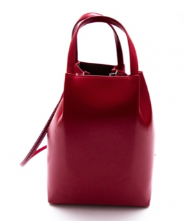 Alaia Red Leather Marguerite Tote Bag