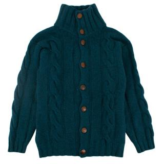 Harrods of London Kid's Cashmere Cable Knit Cardigan