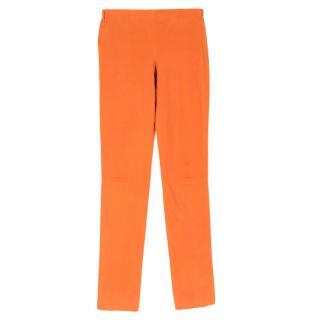 Louis Vuitton Orange Leather Pants