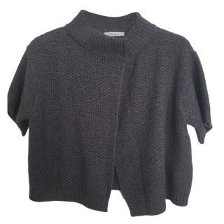 MaxMara cropped grey cashmere cardigan