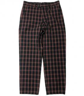 Oliver Spencer orange and black check trousers