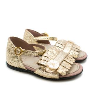 Gucci Toddler Sandals in Gold