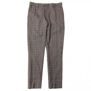 Dries Van Noten men's checked trousers