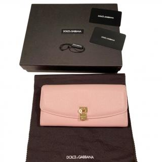 Dolce & Gabbana Pink Grained Leather Purse