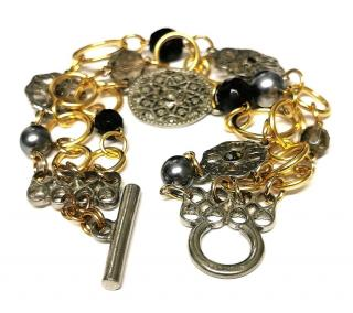 Ben Anum jet toggle bracelet