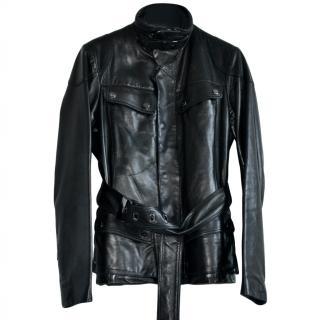 Ralph Lauren Black Label padded leather jacket