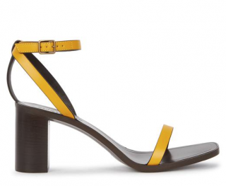 Saint Laurent Loulou Yellow Leather Sandals