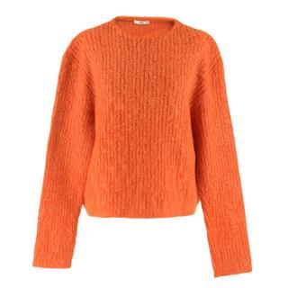 Prada Orange Mohair Knit Jumper