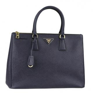 Prada Baltico Saffiano Lux Leather Double Zip Large Tote Bag