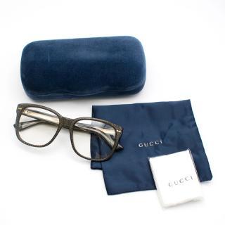 Gucci Black & Gold Acetate Glasses