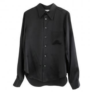 Equipment Black Silk Shirt