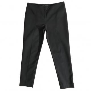 Amanda Wakeley Black Stretch Tapered Pants