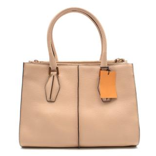 Tod's Beige Leather Piccola Shopping Bag