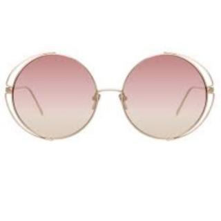 Linda Farrow Farah 816/C8 oversize round sunglasses