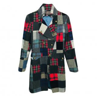 Moloh plaid check coat