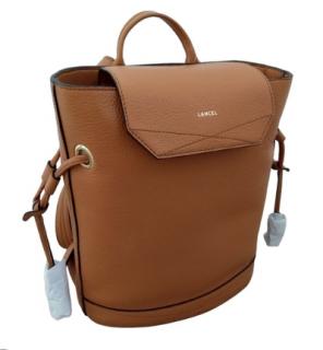 Lancel Huit Camel Leather Backpack