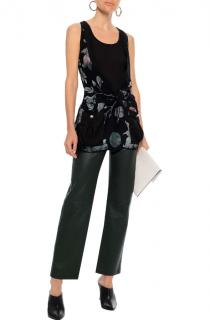 Versus Versace printed silk crepe de chine top