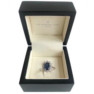 Bespoke 18ct White Gold Sapphire & Diamond Ring
