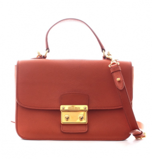 Miu Miu Orange Top Handle Satchel