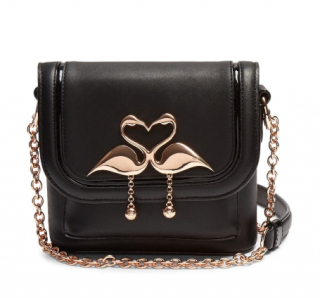 Sophia Webster Claudie Flamingo Cross Body Bag Black