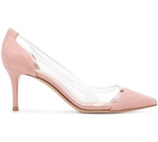 Gianvito Rossi Plexi Kitten Heel Pumps
