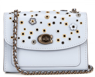 Coach Parker 18 Scattered Rivets Floral Applique Bag