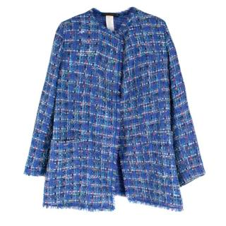 Marina Rinaldi Blue Boucle Blazer Jacket