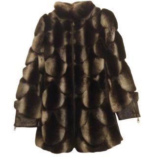 Akhesa Chinchilla Fur & Leather Coat