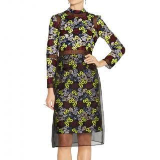 Erdem Phyllis Embroidered Organza Dress