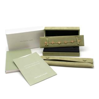 Van Cleef & Arpels Sweet Alhambra 6 Motif Bracelet in Rose Gold