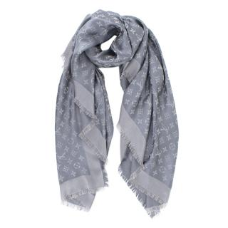 Louis Vuitton Anthracite Monogram Shine Shawl