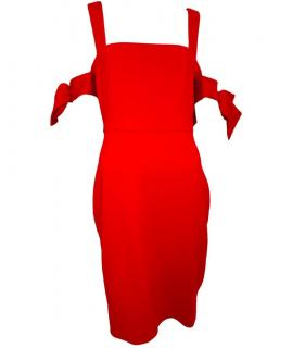 Badgley Mischka red sheath dress