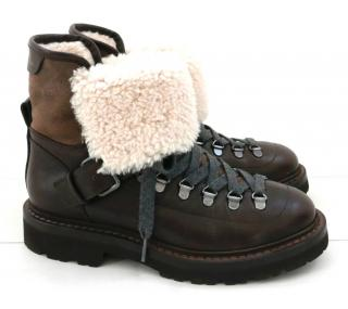 Brunetto Cucinelli hiking style boots