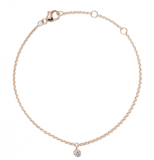 De Beers 18kt Rose Gold My First De Beers Single Diamond Bracelet