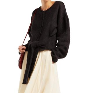 Lemaire black sweater style cardigan