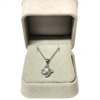 Bespoke Baguette and round cut diamond pendant