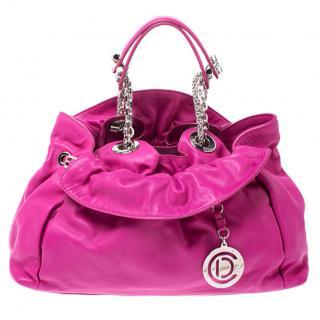 Dior Fuschia Pink Le Trente Tote Bag