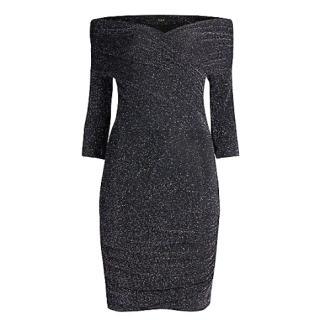 Maje Black Riola Stretch Lurex Dress