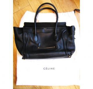Celine large leather tote bag