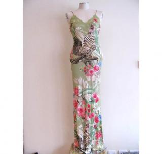 Cavalli green  long dress