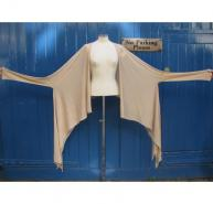 Revillon beige cotton wrap cardigan
