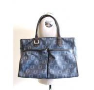 LOEWE large canvas & leather blue bag