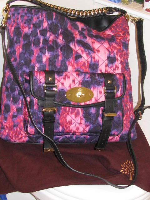 96a93af49a Mulberry Loopy Leopard Quilted Denim Alexa Hobo