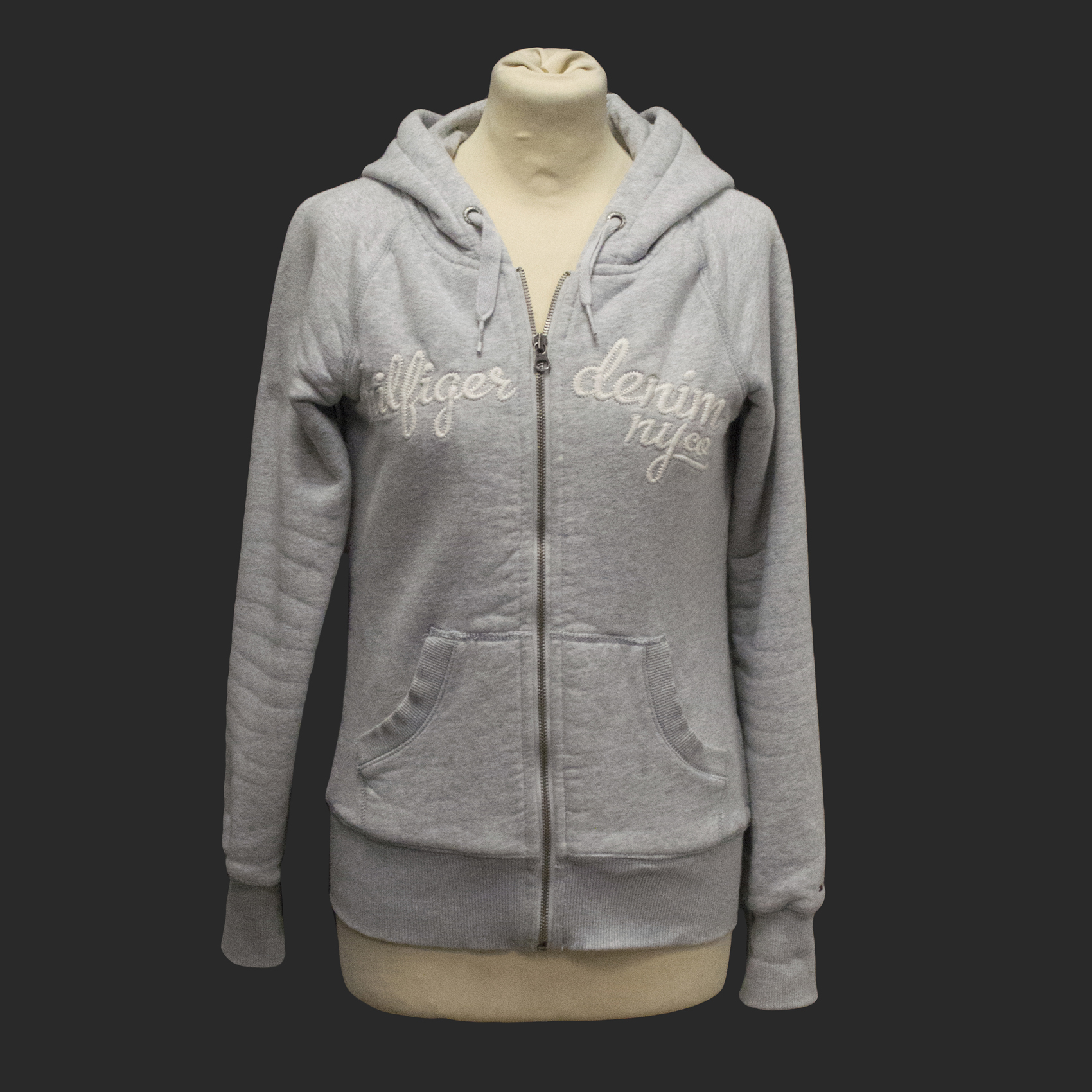 Tommy Hilfiger grey hooded jumper