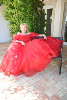 Murray Arbeid valentine red ball gown