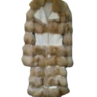 Jitrois Leather and Fox Fur Coat