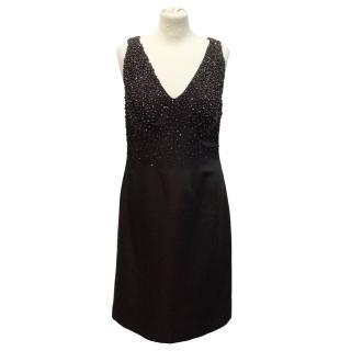 Loewe deep burgundy shift dress