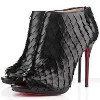 Christian Louboutin Diplonana 120 scale-effect leather ankle booties