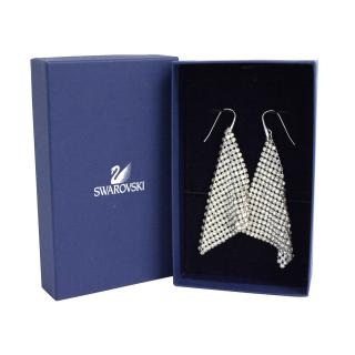 New Swarovski mesh silver earrings